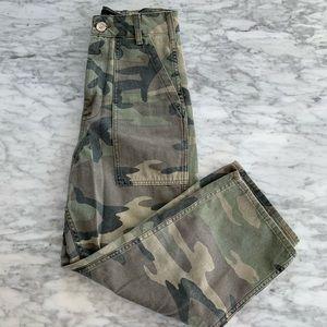 Pants - Topshop Camo Capri Cargo Pant
